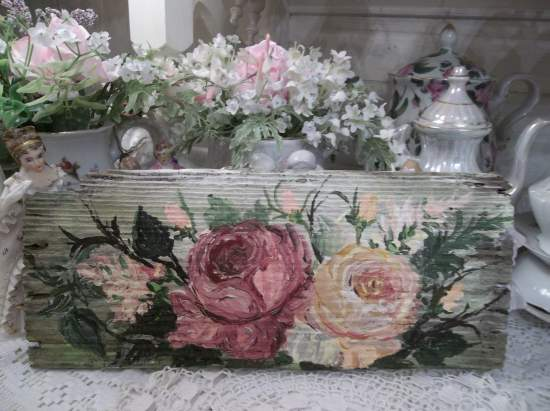 (Rusty Roses)  HANDPAINTED ROSES SIGN