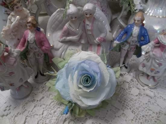 (Monet's  sun) Handmade Paper Rose Clip