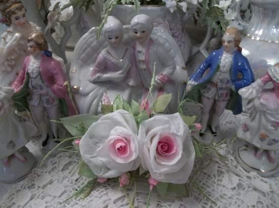 (Pure Dream) Handmade Paper Rose Clip