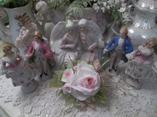 (Peace Of Paris) Handmade Paper Rose Clip