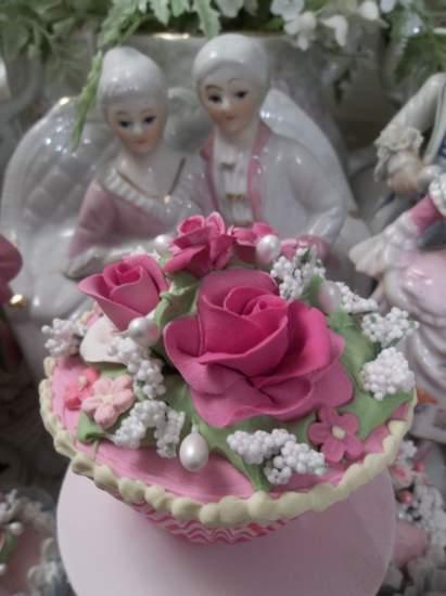 (Rose Zebra) Life Size  Cupcake Fake Food Cottage Decor