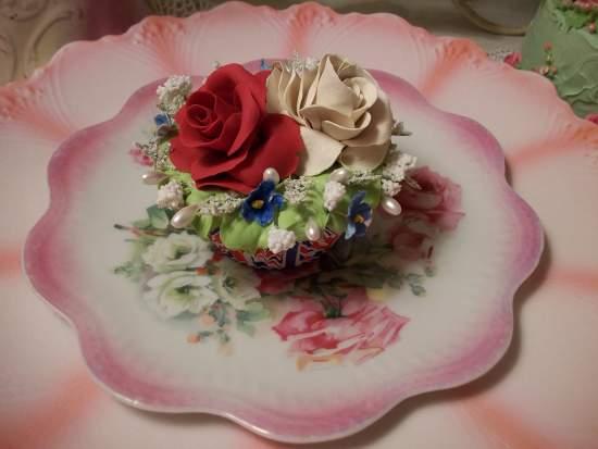 (Unice Jayne)  Life Size  Cupcake Fake Food Cottage Decor