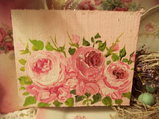 (3 together)  HANDPAINTED ROSES SIGN