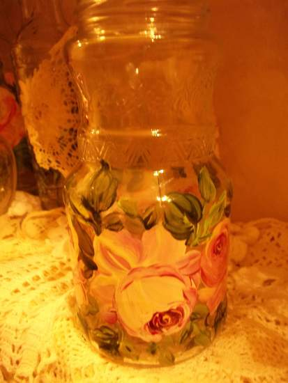 (jar 14) Hand Painted bottle vase