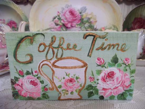 (Jo Time) HANDPAINTED ROSES SIGN