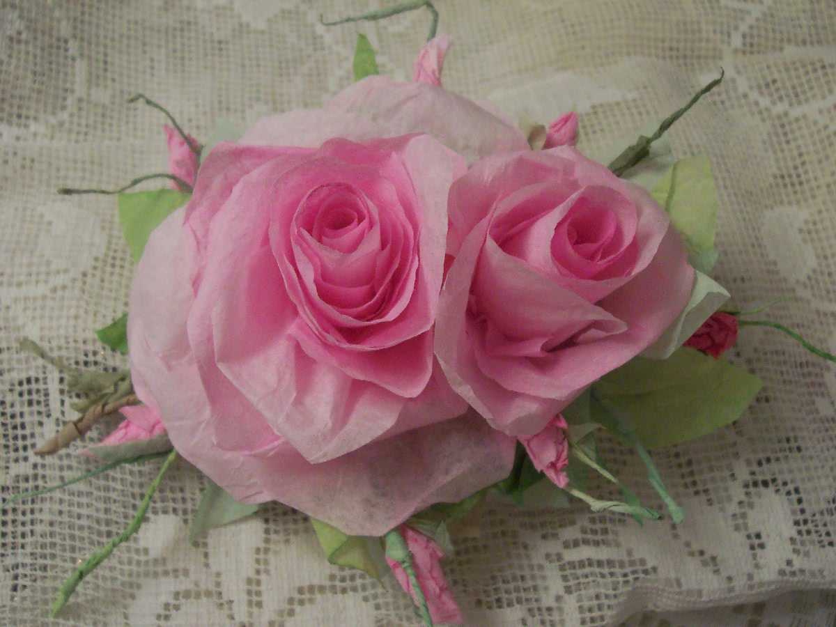(Claire) Handmade Paper Rose Clip
