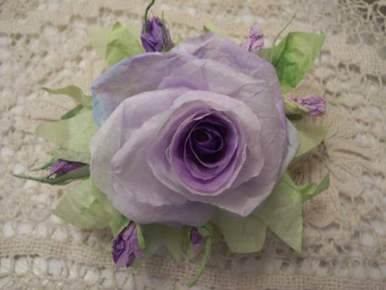 (Jacqui) Handmade Paper Rose Clip