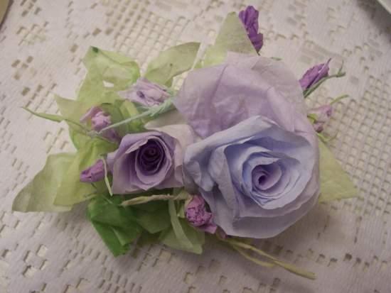 (Jacqi Jean) Handmade Paper Rose Clip