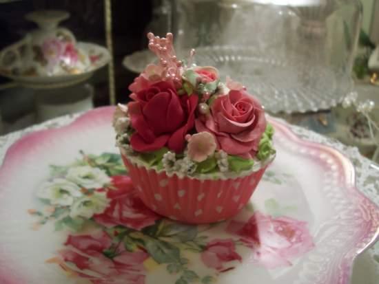 (Roberta)  Life Size  Cupcake Fake Food Cottage Decor