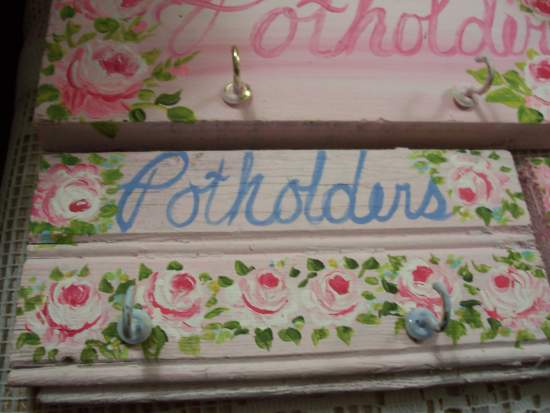 (Potholders sign B) Handpainted Sign