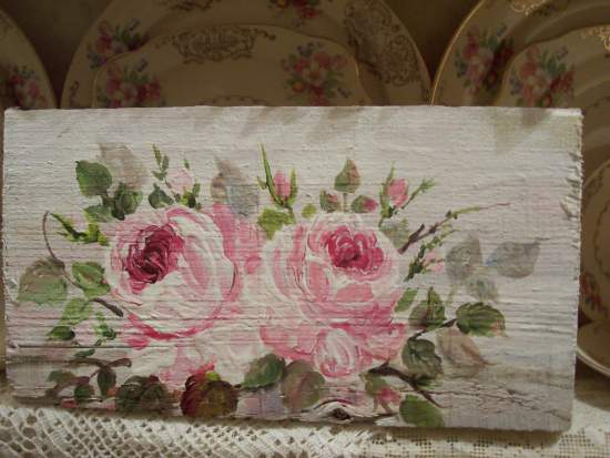 (Sign D)  HANDPAINTED ROSES SIGN