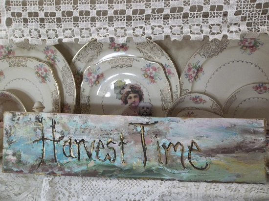 (Harvest Time) Handpainted Sign