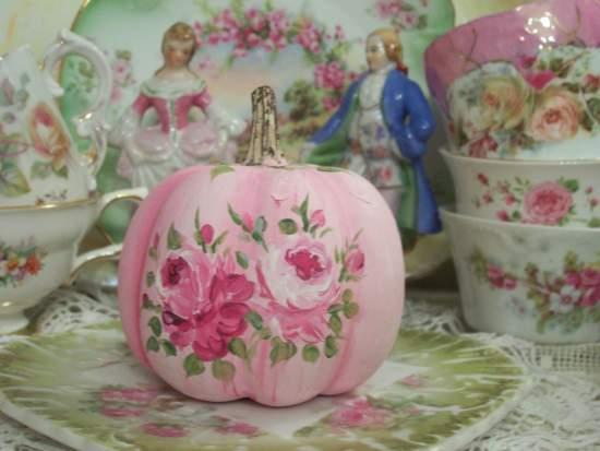 (PatricaPumpkin) Handpainted Fake Pumpkin