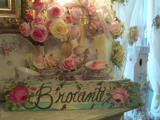 (BROCANTE) FRENCH FLEA MARKET SHABBY WEATHERED PAINTED SIGN