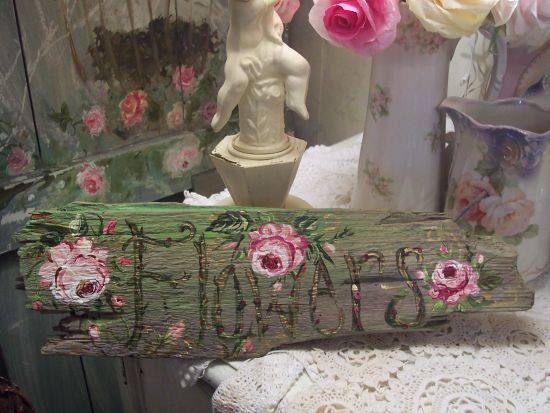 (FLOWERS ONE) HANDPAINTED FLOWERS SIGN