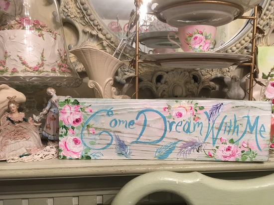 (Come Dream With Me) Handpainted Sign