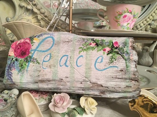 (Rugged Peace) Handpainted Sign