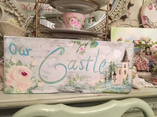 (Our Castle) Handpainted Sign