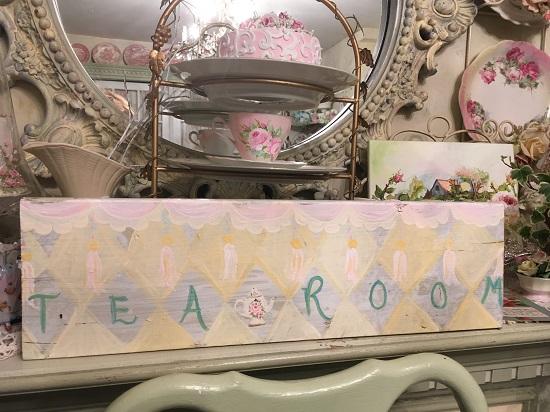 (Tea Room) Handpainted Sign