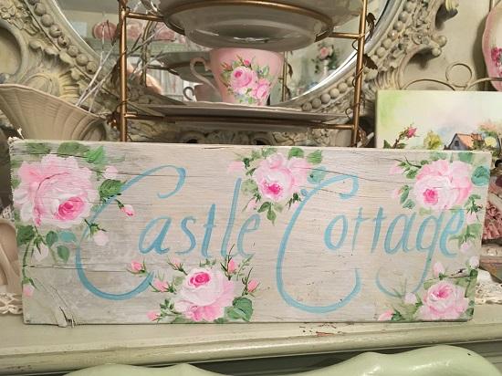 (Castle Cottage) Handpainted Sign