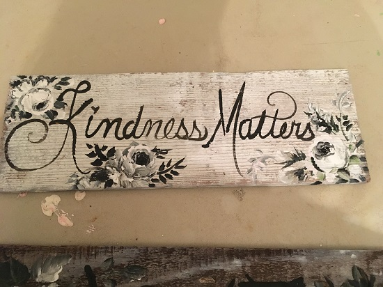 (Kindness Matters) Handpainted Sign