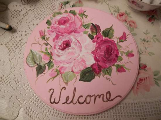 (Welcome Plaque) Handpainted Sign