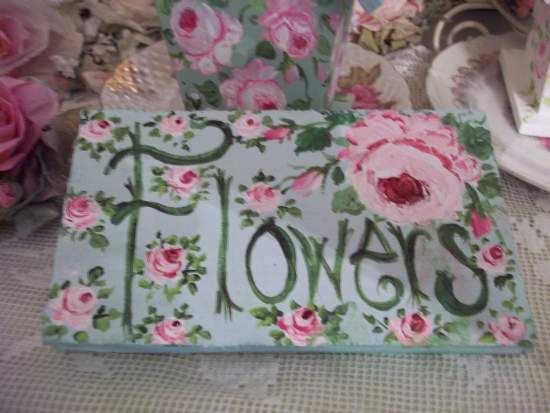 (RoseFlowers) Handpainted Sign
