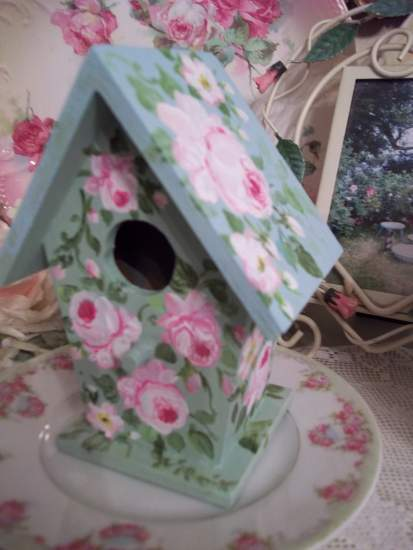 (Joella) Handpainted Bird House