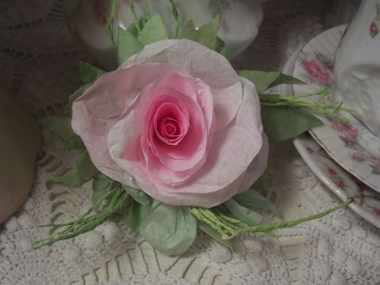 (HanahRC) Paper Rose Clip