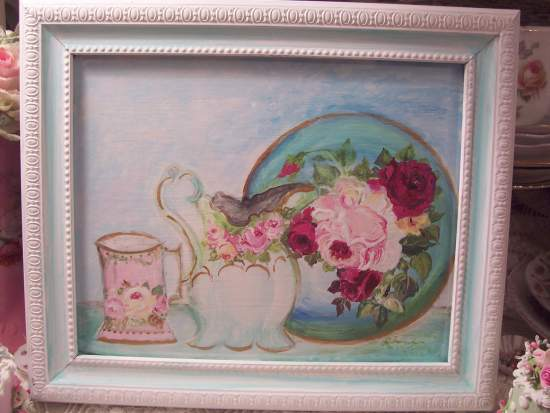 (Painted China Pic) Handpainted Picture