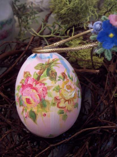 (FrenchHenEgg) Handpainted Fake Egg