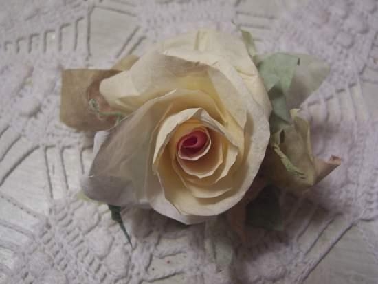 (RaggetyAnne) Handmade Paper Rose Clip