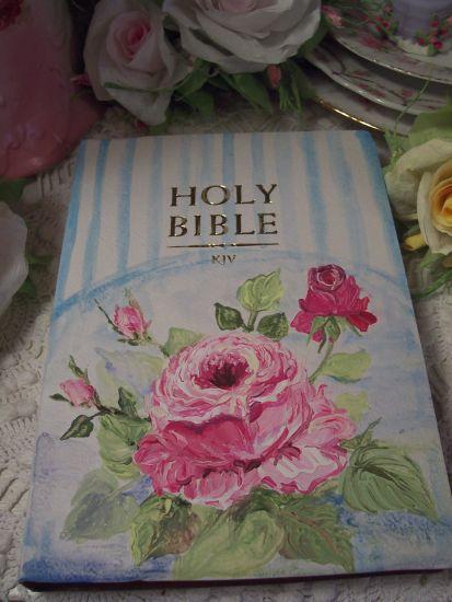 (MarcellaRose) Handpainted Bible