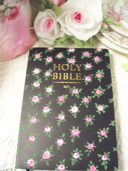 (BlackBeauty) Handpainted KJV Bible