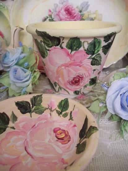 (SummersEnd) Handpainted Flowerpot