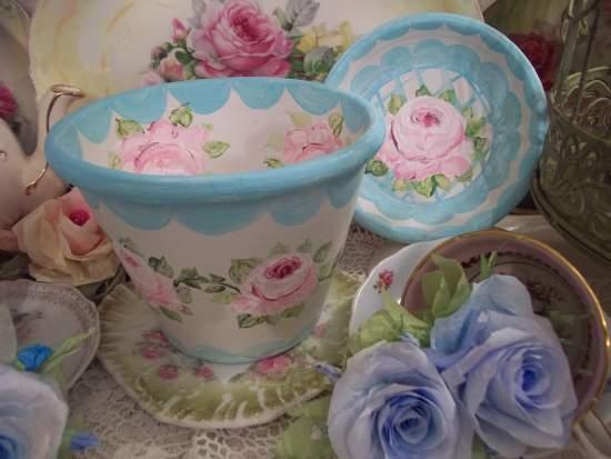(SweetBaby) Handpainted Flowerpot