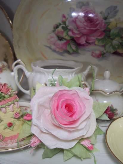 (IsabellaRosa) Handmade Paper Rose Clip