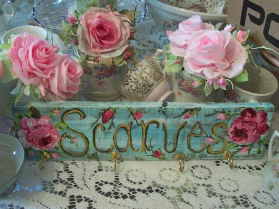 (HangerForScarves) Handpainted Sign