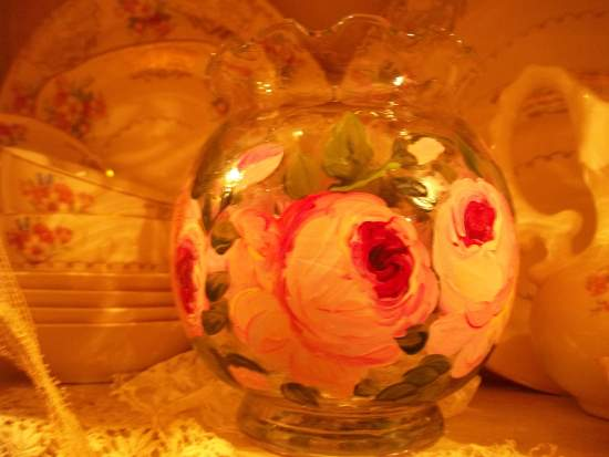 (Bowlv48) Handpainted Bowl