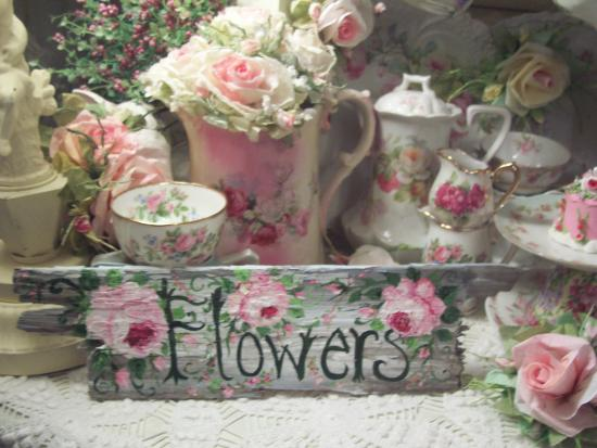 (Flowers Of Pink) Handpainted Sign