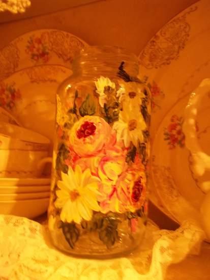 (DaisyMae26) Handpainted Jar