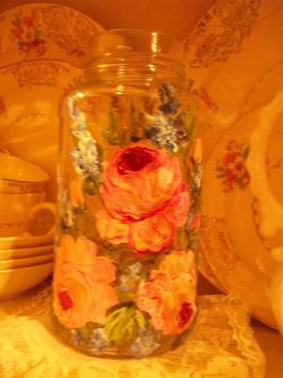 (Jar31) Handpainted Bottle