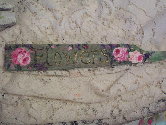 (Flowers) Handpainted Sign