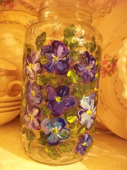 (Violet20) Handpainted Bottle