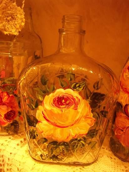 (Love Potion 9) Handpainted Bottle