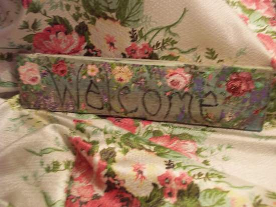 (WelcomeHome) Handpainted Sign