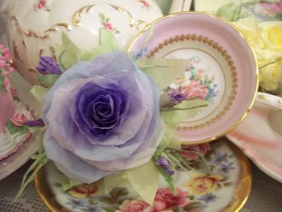 (JackiBelle) Handmade Paper Rose Clip