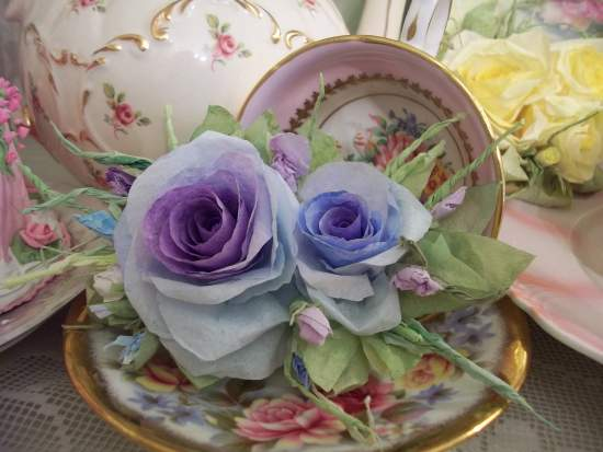 (PeggyJo) Handmade Paper Rose Clip