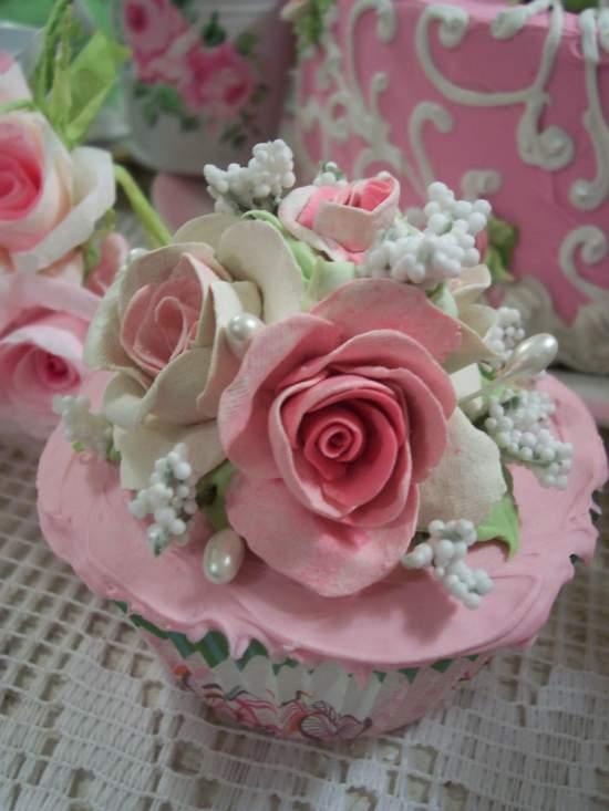 (Contessa Rose) Fake Cupcake Fake Food
