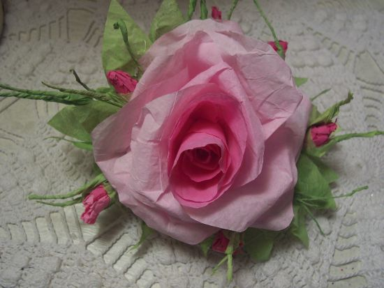 (RoseK) Paper Rose Clip